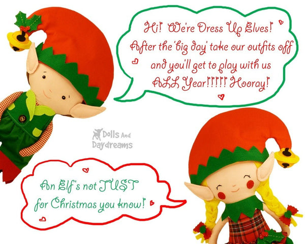 Elf Clothes Sewing Pattern - Dolls And Daydreams - 4