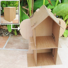 DIY Cardboard Doll House Pattern