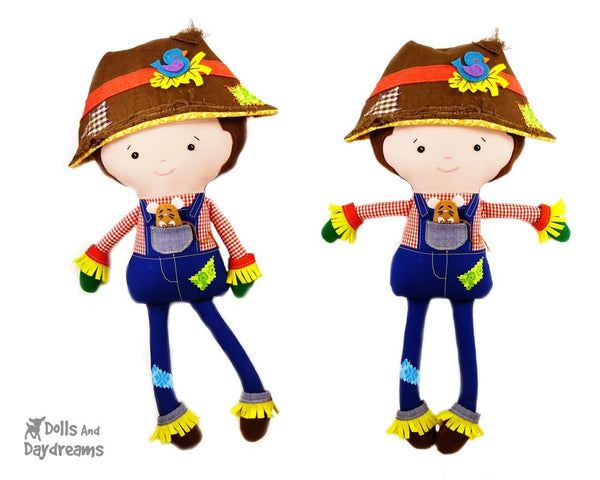 Farmer Scarecrow Sewing Pattern - Dolls And Daydreams - 3