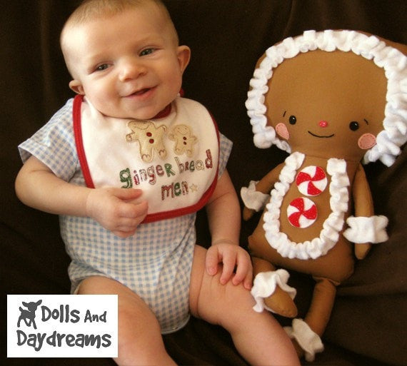 Gingerbread Man Sewing Pattern - Dolls And Daydreams - 4
