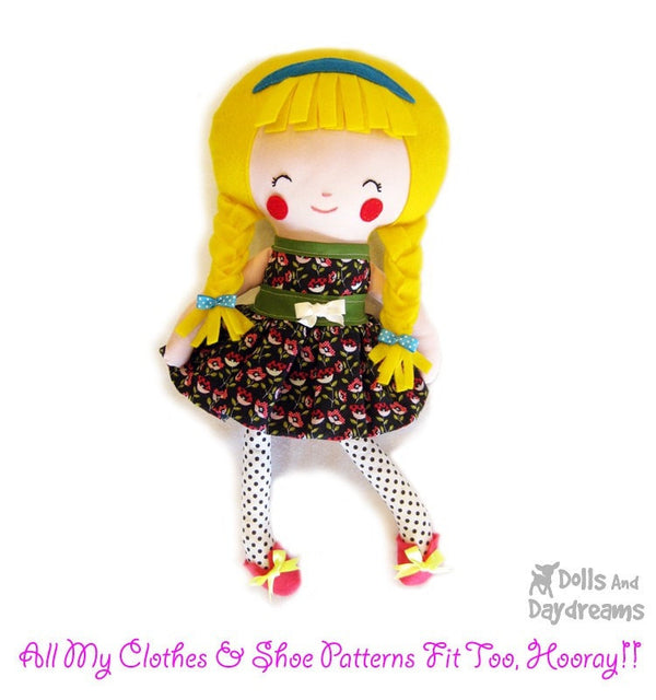 Schoolgirl Sewing Pattern - Dolls And Daydreams - 4