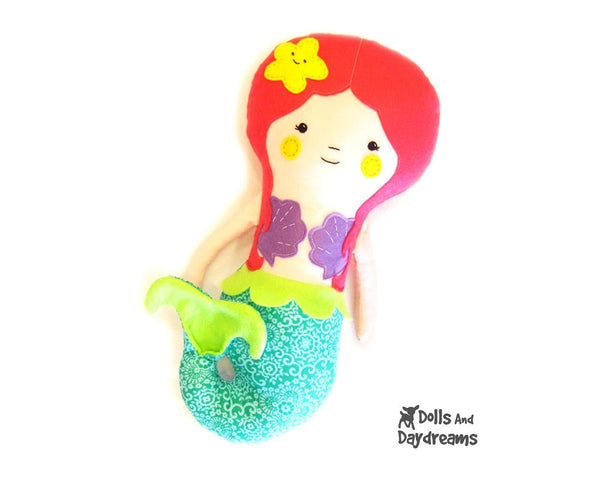 Little Mermaid Sewing Pattern - Dolls And Daydreams - 1