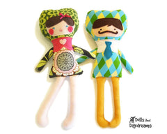Applique Face Dolls Sewing Pattern