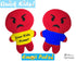 Quick Kids Angry Emoji Sewing Pattern by Dolls And Daydreams Easy DIY Soft Toy plushie