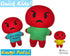 ITH Quick Kids Angry Emoji Doll Plush Pattern DIY Machine Embroidery In The Hoop Toy