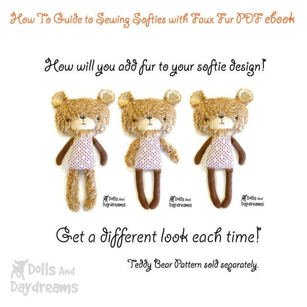 How To Sew Faux Fur ebook - Dolls And Daydreams - 3