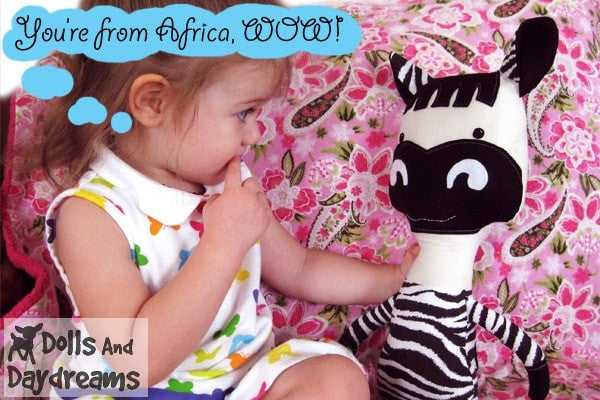 Horse and Zebra Sewing Pattern - Dolls And Daydreams - 4