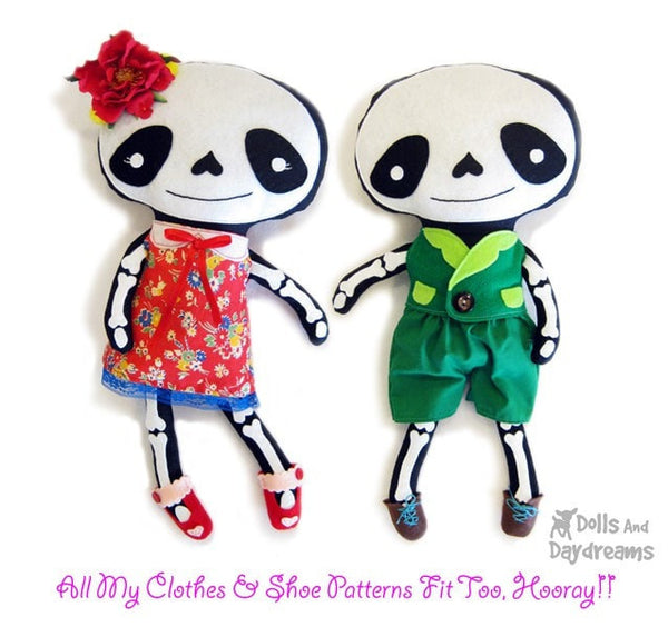 Skeleton Sewing Pattern - Dolls And Daydreams - 3