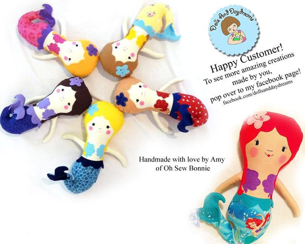 Little Mermaid Sewing Pattern - Dolls And Daydreams - 5