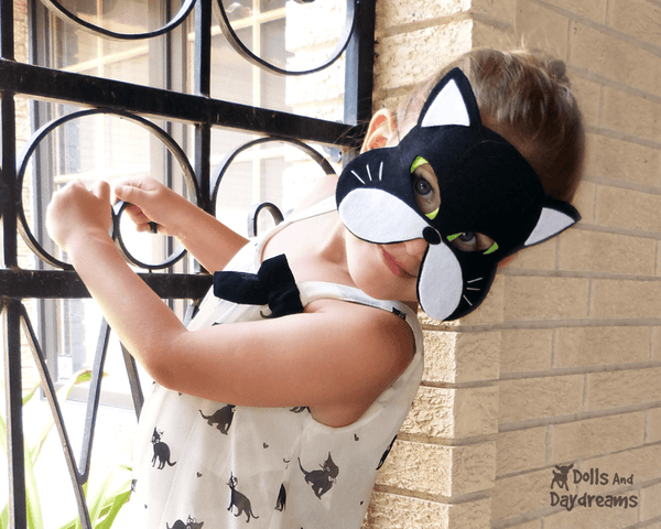 Cat Mask & Tail Pattern - Dolls And Daydreams - 3