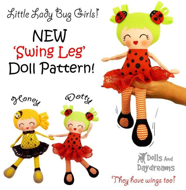 Little Lady Bug Girls Sewing Pattern - Dolls And Daydreams - 6