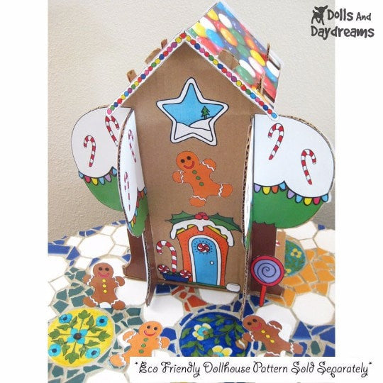 Decorative Gingerbread House Printouts Dolls And Daydreams