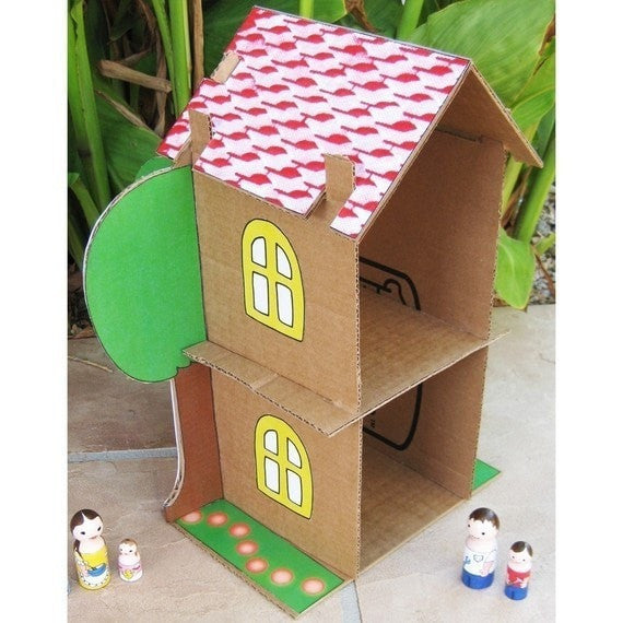 DIY Cardboard Doll House Pattern - Dolls And Daydreams - 3