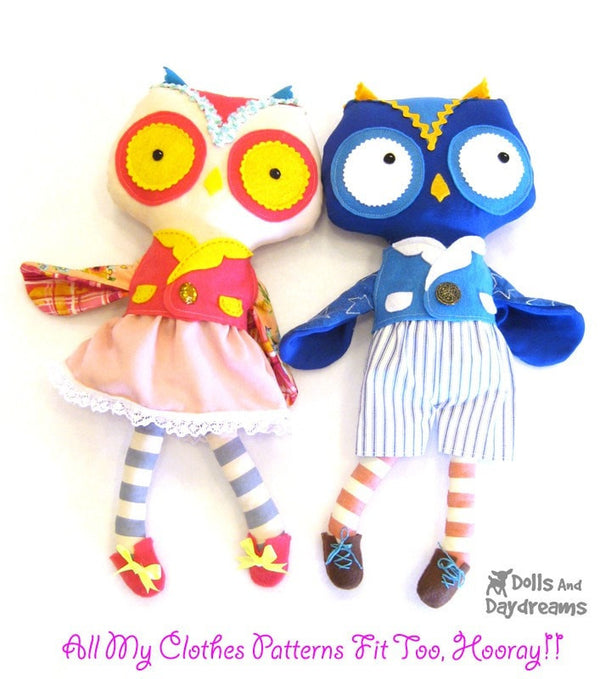 Owl Sewing Pattern - Dolls And Daydreams - 5