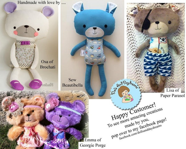 Teddy Bear Sewing Pattern - Dolls And Daydreams - 5