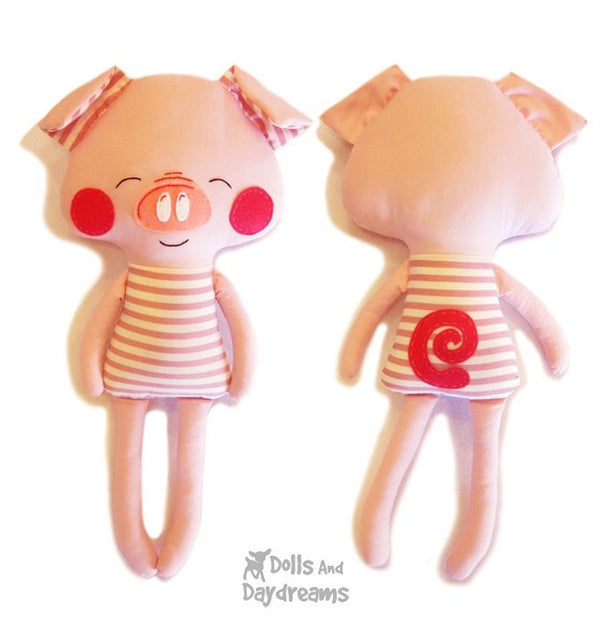Three Little Pigs and Big Bad Wolf Sewing Pattern - Dolls And Daydreams - 4