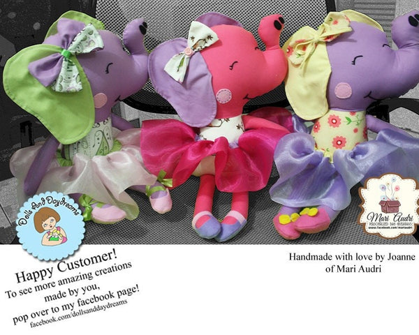 Elephant Sewing Pattern - Dolls And Daydreams - 6