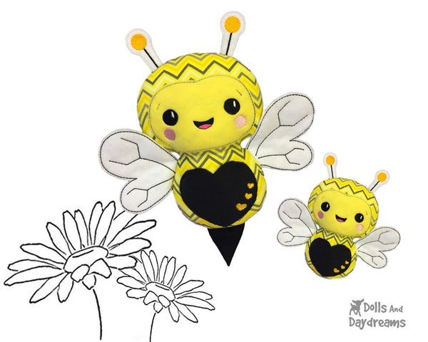 Machine Embroidery Bumble Bee Pattern