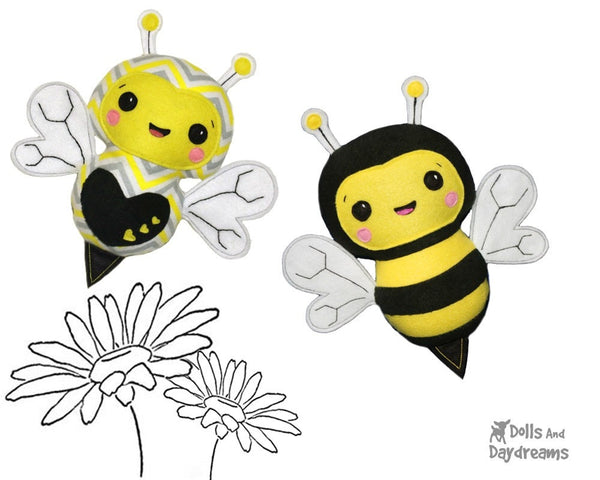Bumble Bee Sewing Pattern Plush toy