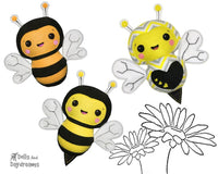 Bumble Bee Softie Sewing Pattern