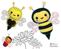 Embroidery Machine Bumble Bee Pattern