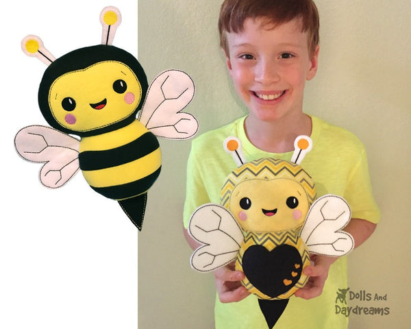 Embroidery Bumble Bee kids toy Pattern