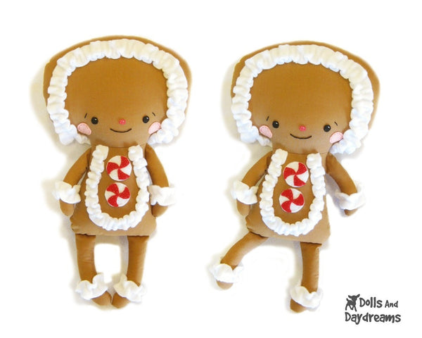 Gingerbread Man Sewing Pattern - Dolls And Daydreams - 2