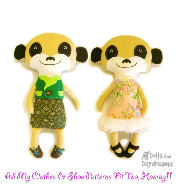 Meerkat Sewing Pattern - Dolls And Daydreams - 4