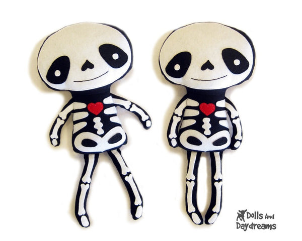 Skeleton Sewing Pattern - Dolls And Daydreams - 1