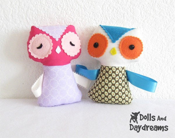 Baby Owl Ribbon Tag Sewing Pattern - Dolls And Daydreams - 2