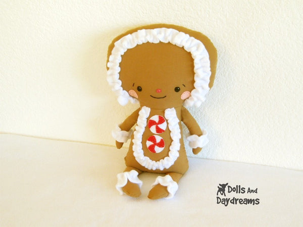 Gingerbread Man Sewing Pattern - Dolls And Daydreams - 3