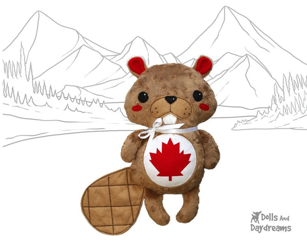 Canadian Beaver Sewing Pattern