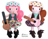 ITH Boho Babes Pattern machine embroidery hippy doll pattern by dolls and daydreams