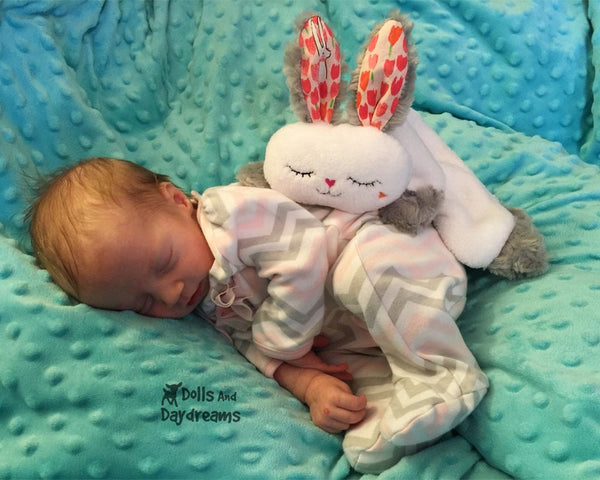 Bunny Grow with Me Baby Blanket Sewing Pattern by dolls and daydreams