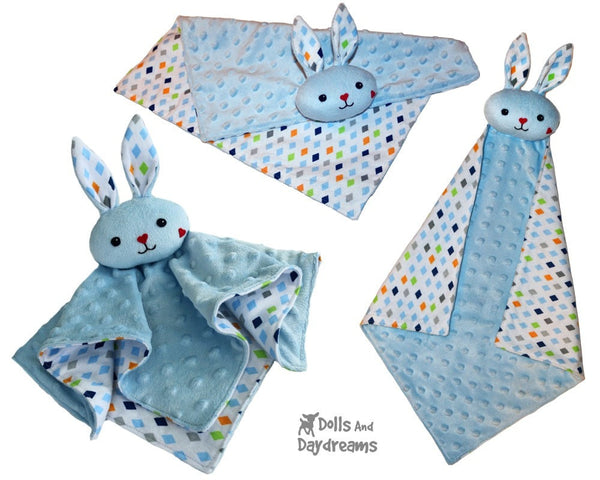 Bunny Lovie Baby Blanket Sewing Pattern by dolls and daydreams