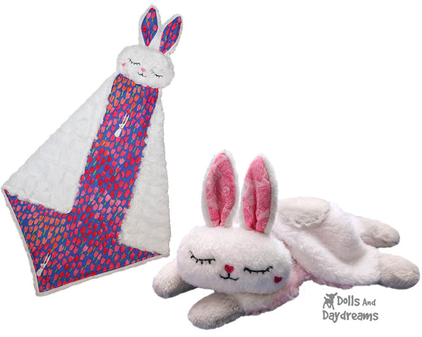 Bunny Pro Grow with Me Baby Blanket Sewing Pattern by dolls and daydreams