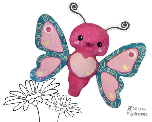Embroidery Machine Butterfly Pattern