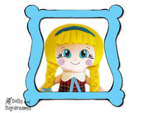 Machine Embroidery Cheeky Cheeks Doll Face Pattern - Dolls And Daydreams - 1