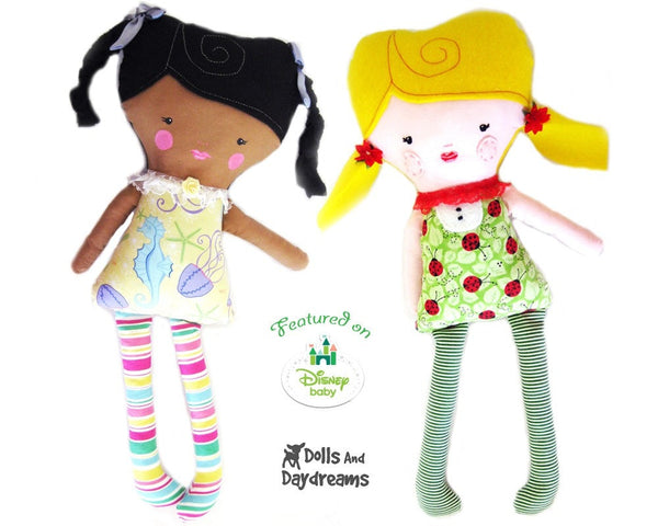 Easy Girl Doll Sewing Pattern - Dolls And Daydreams - 1