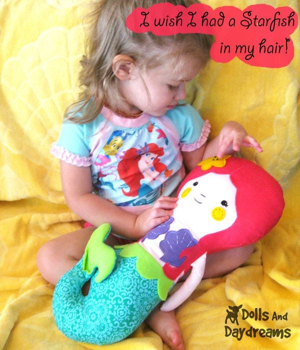 Little Mermaid Sewing Pattern - Dolls And Daydreams - 3