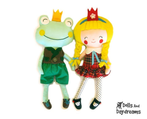 The Princess and The Frog  Sewing Pattern - Dolls And Daydreams - 1