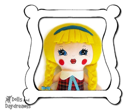 Hand Embroidery Or Painting Retro Doll Face Pattern - Dolls And Daydreams - 1