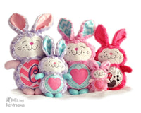 Embroidery Machine Bunny Rabbit Pattern - Dolls And Daydreams - 1