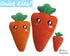In The Hoop Quick Kids Carrot Stuffie ITH machine embroidery Pattern Plush Toy by Dolls And Daydreams