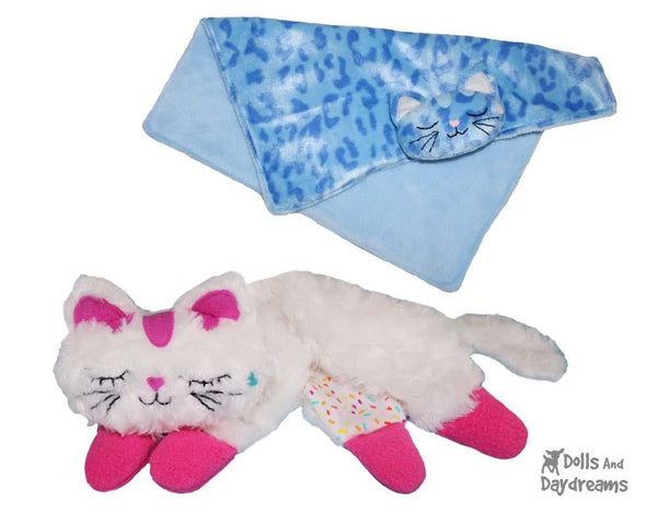 Cat Pro Grow with Me Baby Blanket Sewing Pattern by Dolls And Daydreams