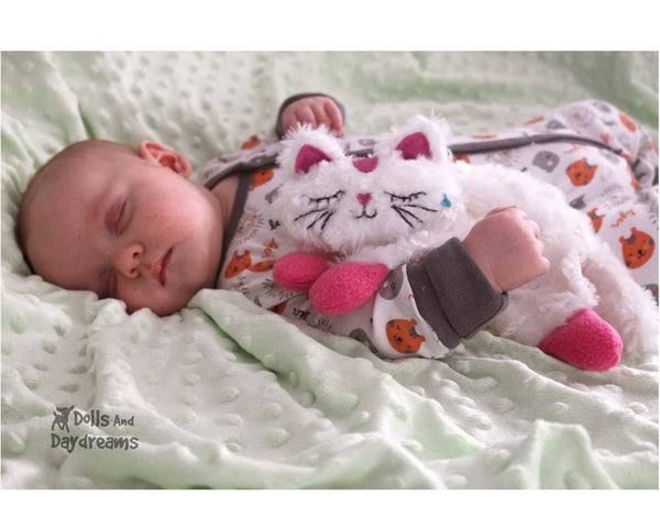 Cat Pro Grow with Me Baby Blanket Lovie Sewing Pattern DIY Blankie by Dolls And Daydreams