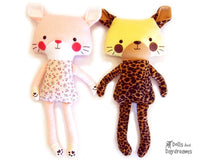 Cat Leopard Sewing Pattern - Dolls And Daydreams - 1