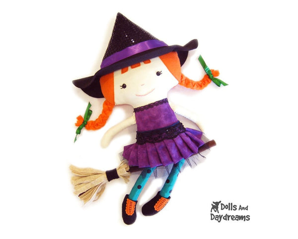 Witch Sewing Pattern - Dolls And Daydreams - 1