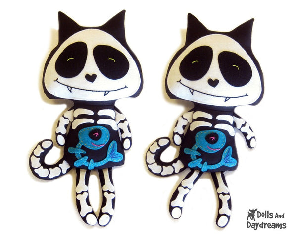 Skeleton Cat Sewing Pattern - Dolls And Daydreams - 1