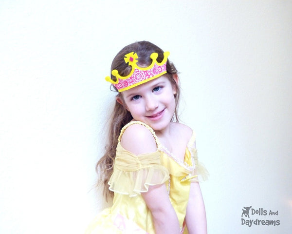 Easy Felt Princess Crown Tiara Pattern by Dolls And Daydreams